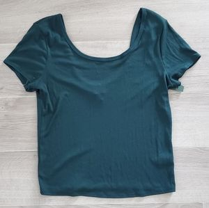 NWT WILD FABLE Ribbed Short Sleeve Tee Sz. L